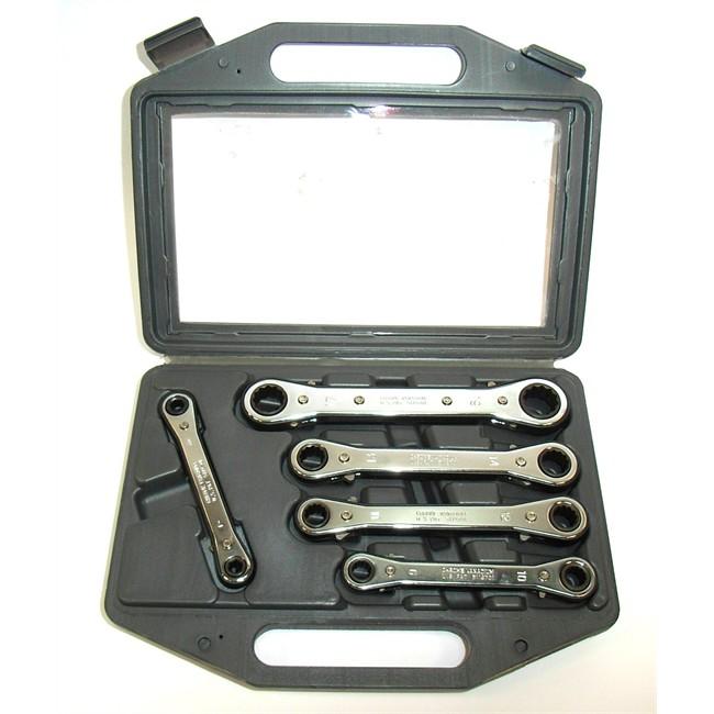 Mallette 5 clés à cliquet à oil Spline 7-19 mm