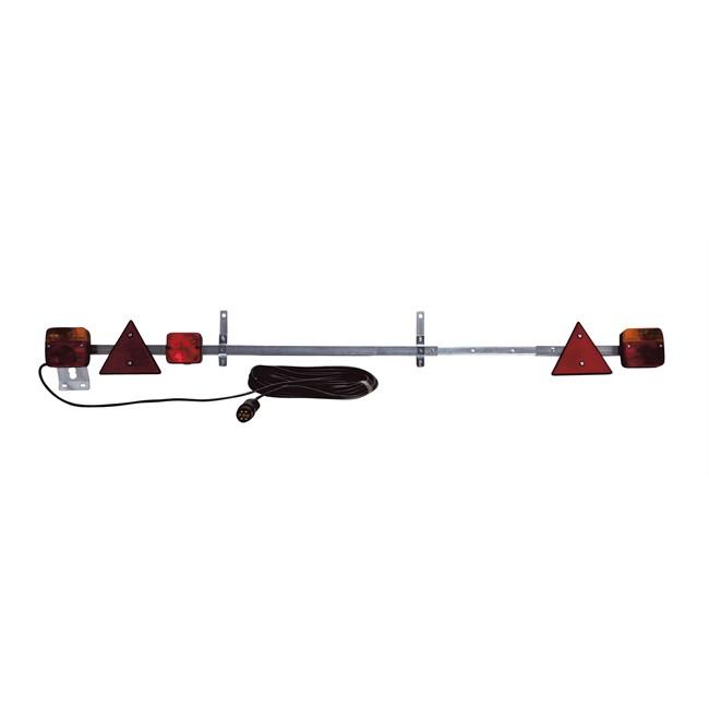 Rampe De Signalisation Télescopique 1,4 À 2,1 M Avec Feu De Brouillard Spotlight