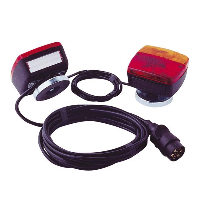 Kit D'éclairage Magnétique Avec Câble Entre Feux De 4 M Et Câble D'alimentation De 7,5 M Spotlight