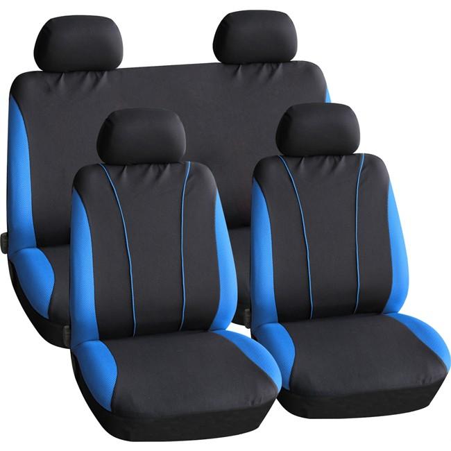 Jeu complet de housses universelles voiture PEPS tonic bleues
