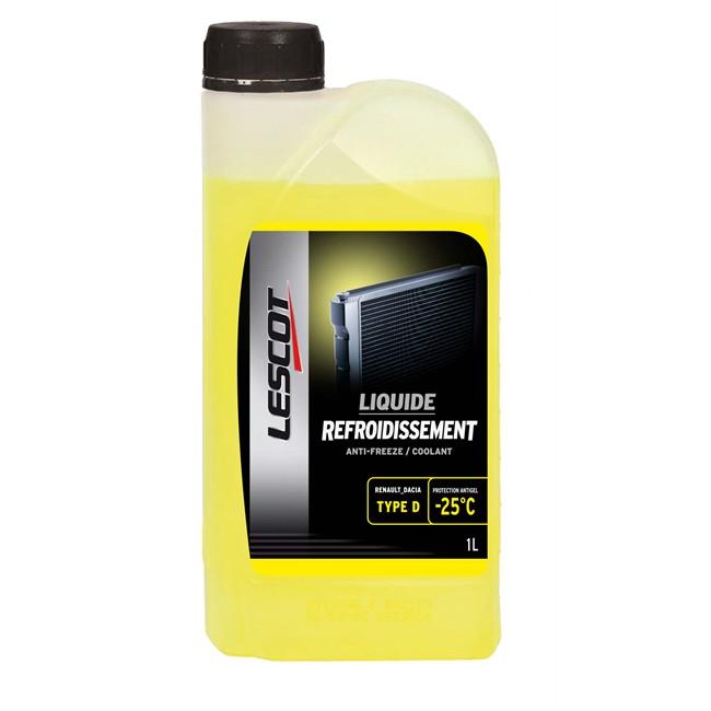 Liquide De Refroidissement Jaune -25°c Lescot 1 L