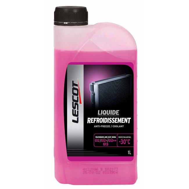 Liquide De Refroidissement Rose -30°c Lescot 1 L