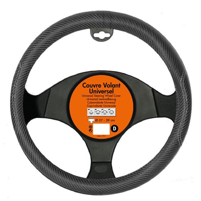 Couvre Volant Turbotech Imitation Carbone Noir