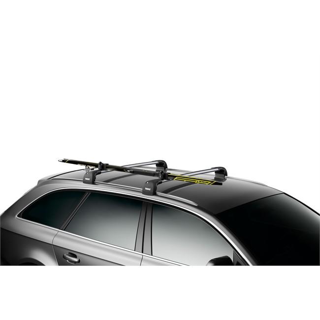 Porte-skis sur barres de toit THULE SKICLICK 729 pour 1 paire de skis de fond