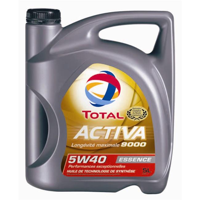 Huile moteur TOTAL Activa 9000 5W40 Essence 5 L