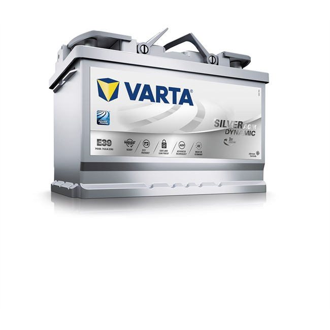 Batterie VARTA E39 Start & Stop Silver Dynamic AGM 70 Ah - 760 A