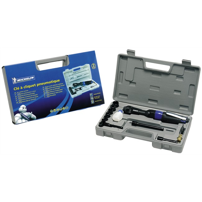 Coffret clé à cliquet carré 3/8'' + 7 douilles 6 pans 9-19 mm MICHELIN pour pneumati