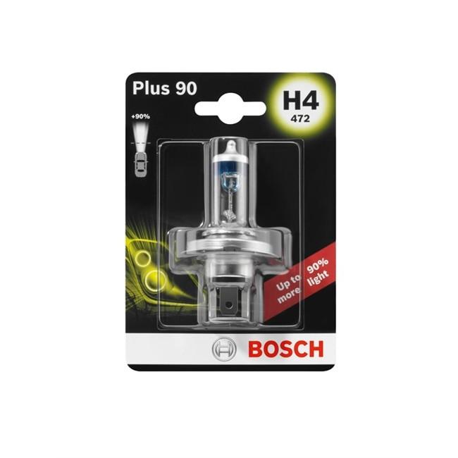 1 Ampoule Bosch H4 Plus 90 12 V