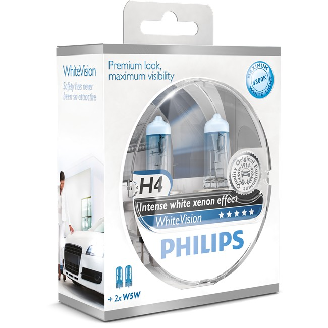 Coffret ''special'' H4 White Vision Philips