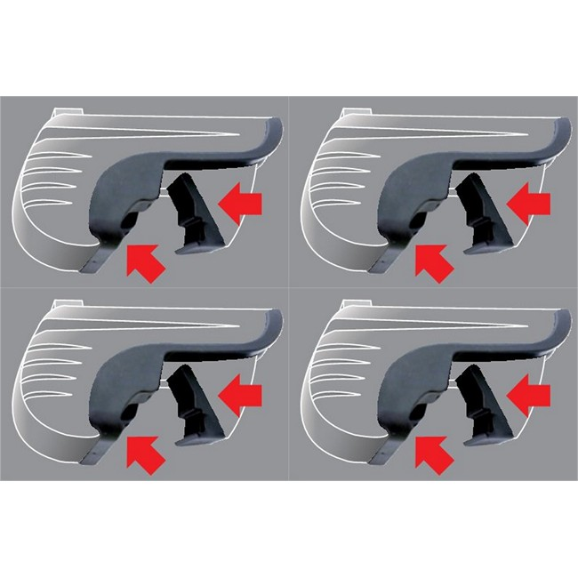 4 adaptateurs MONT BLANC KIT 06+