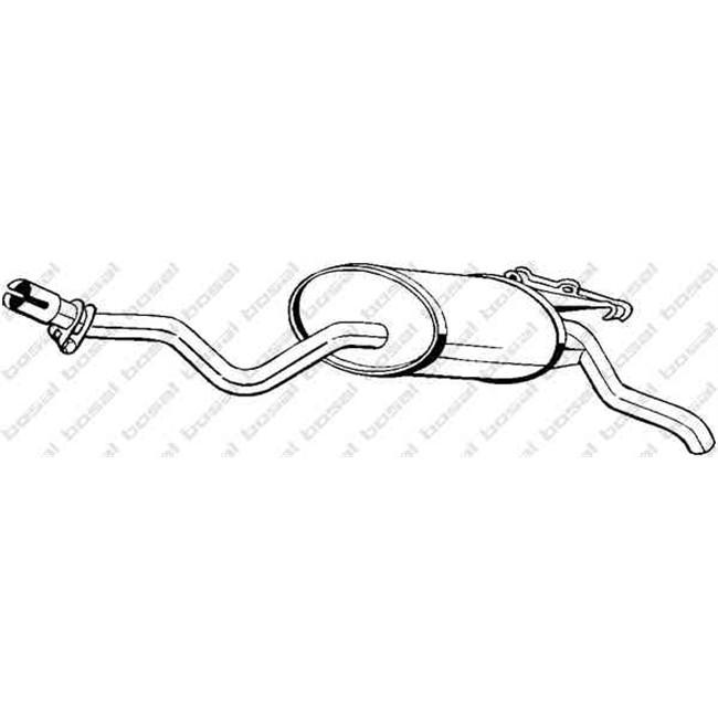 Silencieux arrière BOSAL 175-345