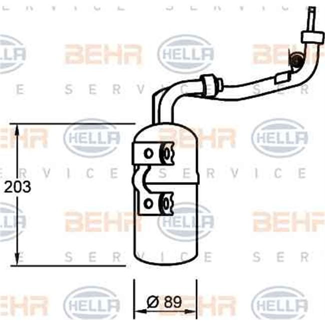 Bouteille filtrante de climatisation HELLA 8FT 351 335-061