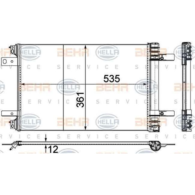 Condenseur HELLA 8FC 351 345-121