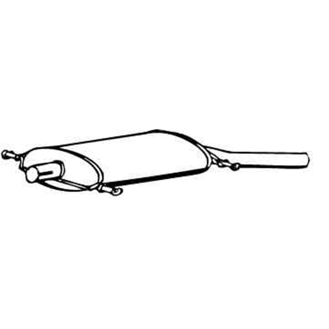 Silencieux arrière WALKER 17022