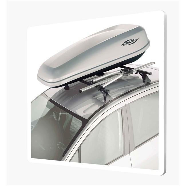 Montage coffre de toit sur barres de toit (montage barres non inclus)